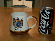 WILSON - FAMILY CREST / COAT OF ARMS, Ceramic Coffee Cup / Mug, Vintage