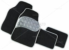 4pc CAR Mat Set Grigio Tappetini Heavy Duty Universal Non-Skid 81358c