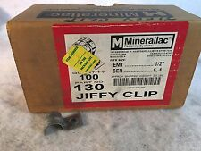 "Partial Box of 94 Minerallac Jiffy Clips Part No. 130 Fits 1/2"" Tubing"