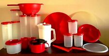 Tupperware Lot Red Storage Serving Kitchen Pitcher Modular Mates Colander 31 pcs