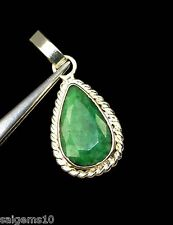 36.14 Ct Ebay GGL Certified Pear Natural Emerald Gemstone Astrological Pendant