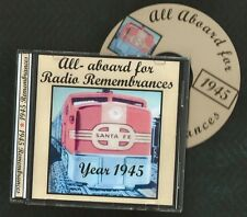 1945 RADIO REMEMBRANCES CD Who's on First  Red Skelton  Spike Jones  otr