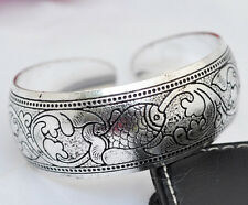 EXQUISITE TIBETAN TIBET SILVER TOTEM BANGLE CUFF BRACELET ( FISH ) 10
