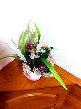 Silk Floral Arrangement/Easter Floral Centerpiece/Silk Floral Arrangement