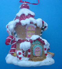 """Christmas ornament candy crush house gingerbread candy canes 4"""" tall"""