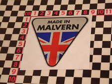 Hergestellt in Malvern Chrom Aufkleber Morgan Plus 4 Plus 8 Autokühler Aufkleber