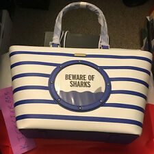 Kate Spade Beware of Sharks Make a Splash Tote Bag Purse NWT Retail 379$