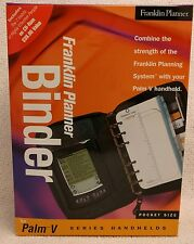 Franklin Covey Planner / Binder Pocket Size Nappa Leather for Palm V or Cell