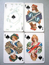 DONDORF a/M No187 STUART TIME HALF SIZE GILDED 52+1J ANTIQUE PLAYING CARDS