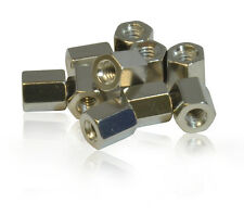 Pack of 10 x 6mm DB Hex Nuts use with Serial 9 Pin/ VGA/ SVGA/ DVI/ PCB Mounting