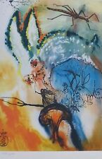 SALVADOR DALI ALICE IN WONDERLAND Down the Rabbit hole SIGNED HAND NUMBERD LITHO
