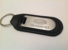 SUBARU Key Ring Blind Etched On Leather WRX LEGACY OUTBACK BRZ FORESTER XV