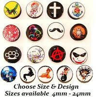 New 1 x Black Acrylic Screw Up Logo Ear Plug Assorted Comic Film Tunnel Picture