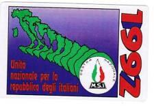 Tessera 1992 Movimento Sociale MSI M.S.I perfetta