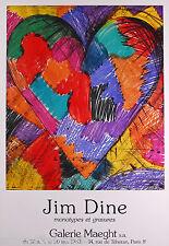 DINE JIM AFFICHE PRODUITE EN 1983 FOND MAEGHT POSTER EXCELLENT ÉTAT POP ART