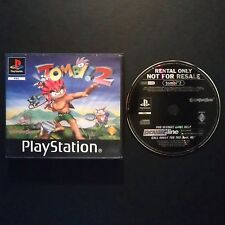 TOMBI 2 PlayStation UK PAL English・BLOCKBUSTER EX RENTAL complete rare PS1 PS2