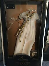 "FRANKLIN MINT TITANIC Rose 16""Vinyl Doll Creme BREAKFAST DRESS Ensemble NRFB+COA"