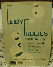 Sheet music Fairy Frolics Florence P. Rea 1920 Clayton F Summy co.