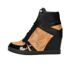 scarpe donna 1° CLASSE ALVIERO MARTINI 39 sneakers nero beige pelle AF222-E