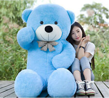 "63"" GIANT HUGE BIG TEDDY BEAR ""blue"" SOFT STUFFED PLUSH toys bears gift 160cm"