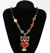 Women's Vintage Fashion Jewelry Hot Charm OWL Crystal Pendant Necklace NEW A1