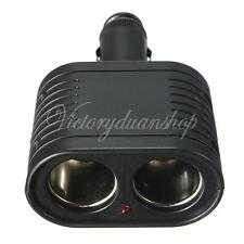 12V Dual 2-Way Car Truck Cigarette Lighter Power Charger Adapter Socket Splitter