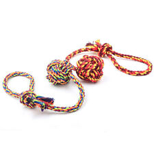 CUTE Pet Puppy Rope Dogs Cottons Chews Toy Ball Play Braided Bone Knot For Fun