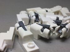 12 NEW White LEGO Plate 1 x 2 with Mini Blaster Shooter - Star Wars AUTHENTIC