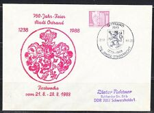 Germany DDR 1988 cover 750 th anniversary Stadtrecht.Limited issue