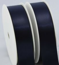 50M reels of woven edge double sided quality satin ribbon in 4 widths 28 colours