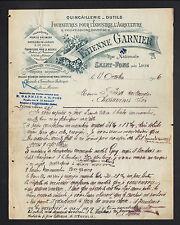 """SAINT-FONS (69) QUINCAILLERIE TAILLANDERIE COUTELLERIE """"Etienne GARNIER"""" en 1906"""