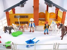 PLAYMOBIL 3120 HORSE & PONY RANCH STABLE - ESSENTIALS - INCOMPLETE SET