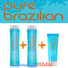 PURE BRAZILIAN ANTI-FRIZZ SHAMPOO, CONDITIONER & MASQUE TRIO SET!!!