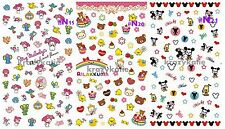 3 sets My Melody Rilakkuma Mickey N19-21 Water Transfer Nail Sticker Decals