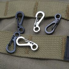 10Pcs Alloy Survival Buscraft Outdoor Hang Buckle Quickdraw Key Chain grey UK