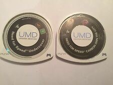 2 x SONY PSP N4S GAME UMD'S NEED FOR SPEED CARBON OWN THE CITY + UNDERCOVER