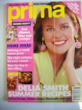 Prima Magazine June 1993. Delia Smith Summer recipes. Feel slimmer, fitter & you