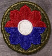 Embroidered Military Patch U S Army 9th Infantry Division NEW