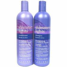 Clairol Shimmer Light Shampoo & Conditioner for Blonde & Silver 16.oz