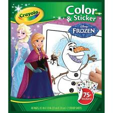 **NEW**Crayola-Disney Coloring & Sticker Book: FROZEN - Includes 75 Stickers!!