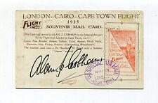 Alan Cobham 1925 Survey Flight Postcard London-Cape Town- Signed With Label