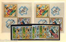 Bhutan Scott #90-90Ef Mint NH OG Girl Scouts Set & Souvenir Sheet Perf & Imperf