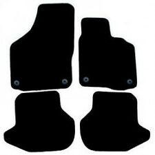 VW EOS Fully Tailored Car Mats (06 Onwards) Round Clips - Black