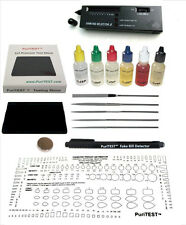6 Gold Testing Acid Jewelry Test Kit and Scratch Stone Detect Check Metals LOT