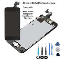 NEW LCD & Digitiser Touch Screen Fully Assembled with Parts FOR iPhone 5C BLACK