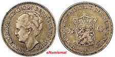 Netherlands Wilhelmina I Silver 1930 1/2 Gulden  KM# 160