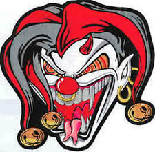 Iron On/ Sew On Embroidered Patch Badge Jester Face Joker Face Back Patch Large