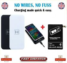 Qi Wireless Charger Pad +Charging Receiver for Samsung Galaxy S5 Rectangle BLACK