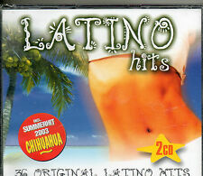COFFRET 2CD 36T  LATINO HITS /LOS MANOLOS/LOU BEGA/   PERRY COMO  NEUF SCELLE
