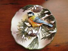 GANZ 3D Ceramic Bird Collector Plate with Pine Tree
